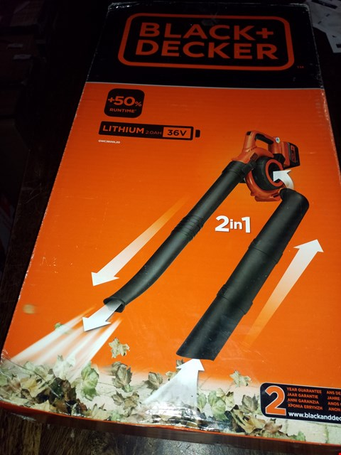 Lot 2512 BLACK AND DECKER CORDLESS LEAF BLOWER
