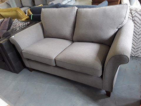 Lot 2016 QUALITY BRITISH DESIGNER GREY FABRIC 2 SEATER SOFA