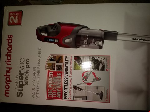 Lot 1907 MORPHY RICHARDS CORDLESS SLEEK PRO VACUUM WITH DETACHABLE HEAD