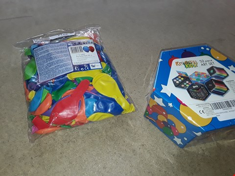 Lot 2142 PARTY PACK OF BALLONS AND 52 PIECE ART SET