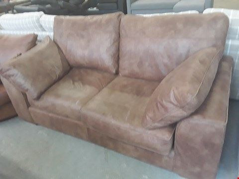 Lot 5 QUALITY BRITISH DESIGNER BROWN LEATHER 2 SEATER SOFA