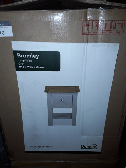 Lot 1170 BOXED DESIGNER BROMLEY LAMP TABLE IN GREY