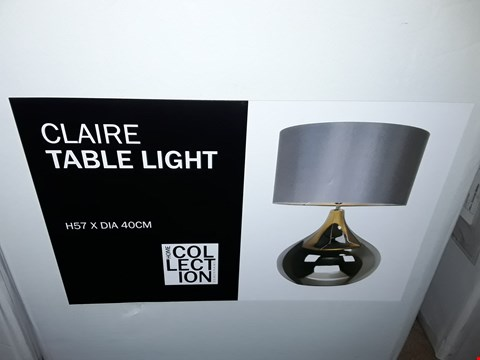 Lot 359 BOXED OME COLLE TION CLAIRE TABLE LAMP
