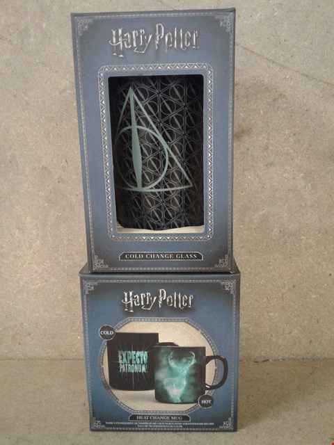 Lot 497 2 BRAND NEW BOXED HARRY POTTER ITEMS TO INCLUDE MUG AND GLASS