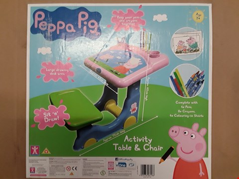 Lot 2057 PEPPA PIG ACTIVITY TABLE AND CHAIR RRP £50