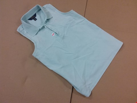 Lot 211 GRADE 1 GIRLS CLASSIC SLEEVELESS POLO IN BLUE - SIZE L/G 12-14 RRP £45