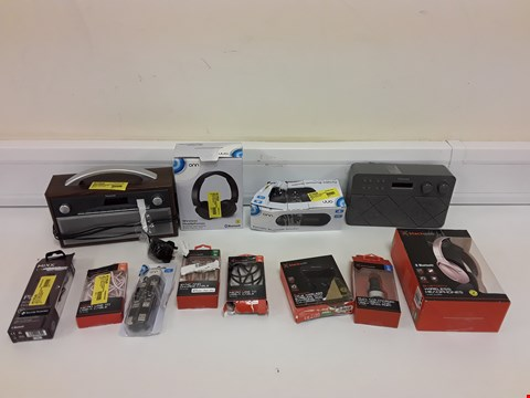 Lot 9475 LOT OF APPROXIMATELY 80 ASSORTED ELECTRONIC ITEMS TO INCLUDE MIXX AUDIO WIRELESS HEADPHONES, BLACKWEB MOUSE, ONN TELEPHONE ETC
