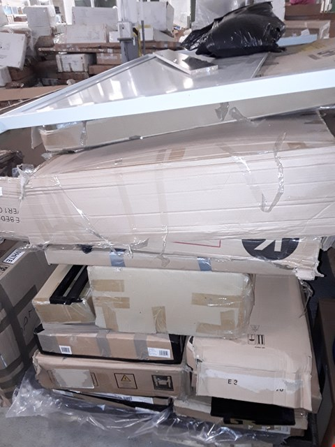 Lot 3086 PALLET OF ASSORTED FLAT PACK FURNITURE/PARTS