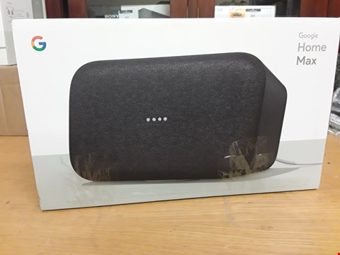 Lot 72 GOOGLE  HOME MAX SPEAKER CHARCOAL GREY
