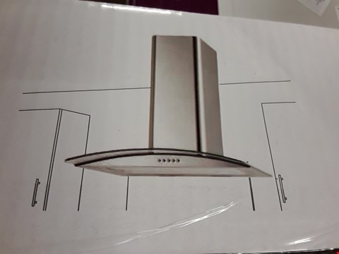 Lot 41 COOKE & LEWIS 60CM CURVED GLASS HOOD RRP £153