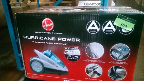 Lot 184 BOXED HOOVER HURRICANE POWER VACUUM CLEANER