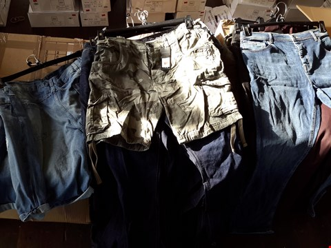 Lot 7097 BOX OF APPROXIMATELY 30 ASSORTED GENTS SHORTS AND JEANS TO INCLUDE CROSSHATCH, VOI ETC