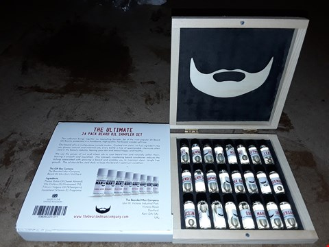 Lot 2083 THE BEARDED MAN COMPANY THE ULTIMATE 24 PACK BEAR OIL SAMPLER SET