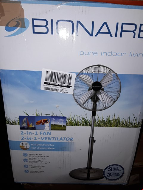 Lot 299 BRAND NEW BOXED BIONAIRE BASF1516 DESK AND STAND FAN RRP £99.99