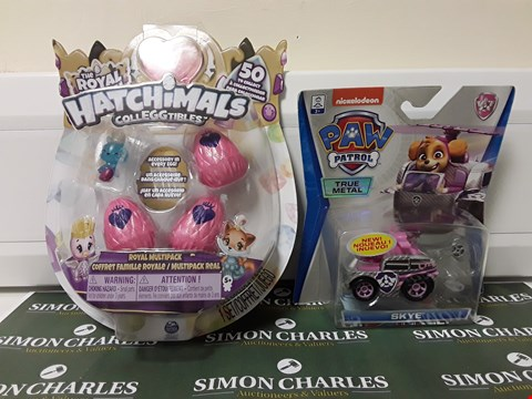 Lot 1407 LOT OF 2 ASSORTED ITEMS TO INCLUDE THE ROYAL HATCH HATCHIMALS COLLEGGTIBLES AND PAW PATROL TOY