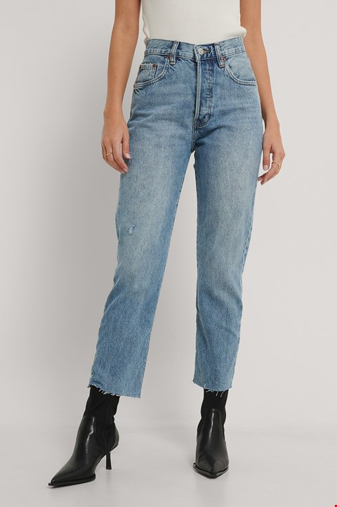 Lot 3115 BRAND NEW MANGO HAVANNA JEANS HIGH WAISTED CROPPED SIZE 34 STRAIGHT