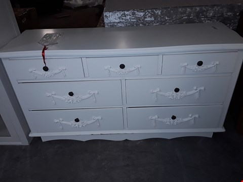 Lot 9530 DESIGNER WHITE 3+ 4 DRAWER FRENCH STYLE SIDEBOARD