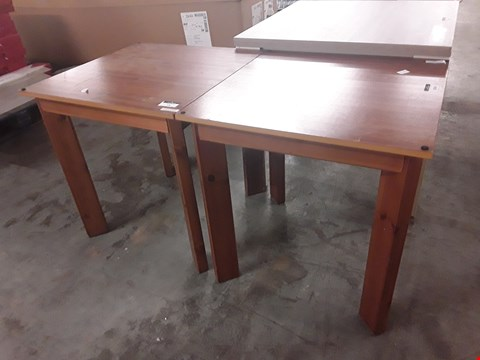 Lot 17444 DESIGNER PAIR OF WOOD-EFFECT SQUARE TABLES