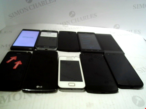 Lot 6119 LOT OF 10 ASSORTED MOBILE PHONES AND SMARTPHONES ETC