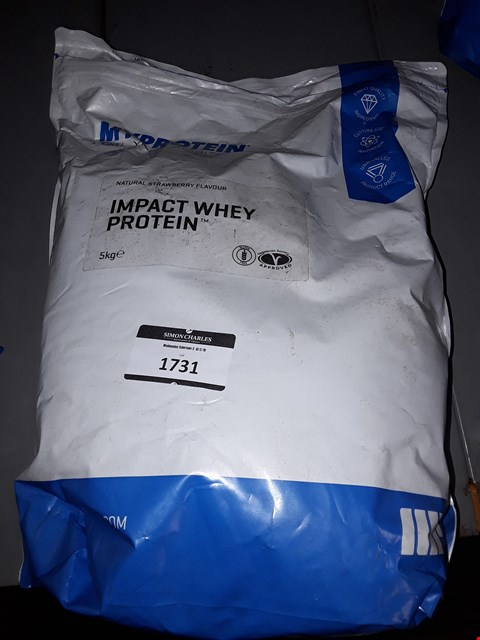 Lot 1731 MYPROTEIN NATURAL STRAWBERRY FLAVOUR IMPACT WHEY PROTEIN 5KG