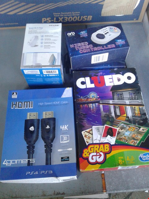 Lot 2257 LOT OF 3 BRAND NEW ITEMS TO INCLUDE PLAYSTATION HDMI CABLE, GRAB AND GO CLUEDO AND WIRED TURBO CONTROLLER