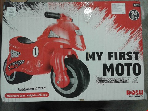 Lot 2108 BOXED MY FIRST MOTO RRP £37.99