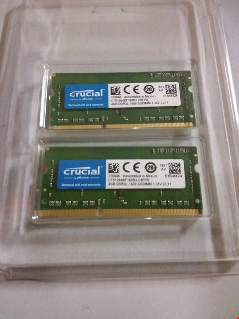 Lot 67 CRUCIAL 4GB DDR3 RAM