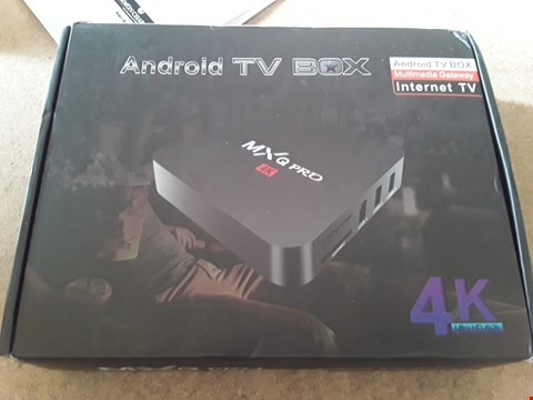 Lot 40 MXQ PRO 4K ANDROID TV BOX