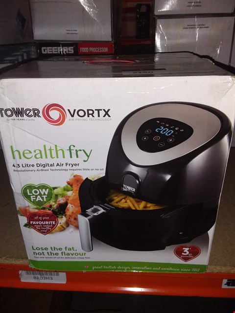 Lot 2150 TOWER T17024 DIGITAL AIR FRYER WITH LCD DISPLAY, 1500 W, 4.3 LITRE, BLACK