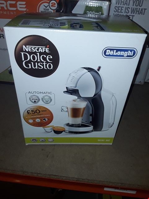 Lot 12599 DELONGHI NESCAFE DOLCE GUSTO COFFEE MACHINE