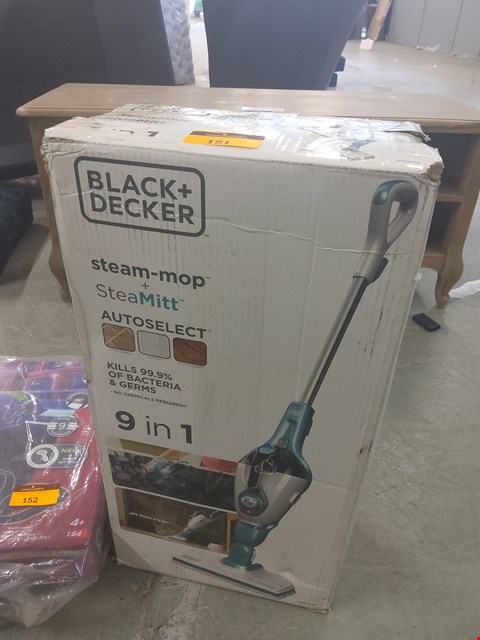 Lot 151 BOXED BLACK AND DECKER STEAM MOP