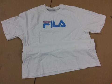 Lot 213 FILE EAGLE LOGO T-SHIRT IN WHITE -  RRP £30