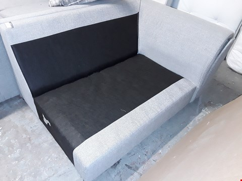 Lot 533 GREY FABRIC TWO SEATER SECTION FRAME