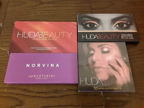 Lot 9011 LOT OF 4 ASSORTED MAKEUP PALETTES TO INCLUDE NIRVANA ANASTASIA AND HUDABDAUTY DESERT DUSK PALETTE