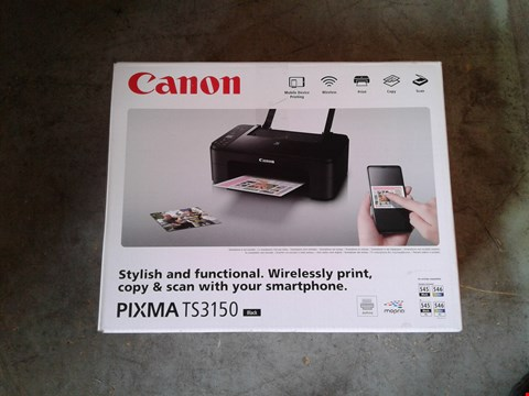 Lot 11090 LOT OF 2 CANON PIXMA TS3150 PRINTERS