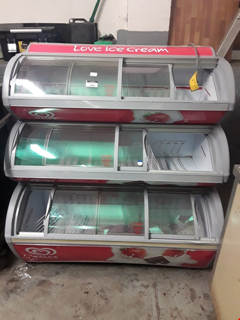 Lot 2004 BRANDED LARGE ICE CREAM FREEZER 3 TIER