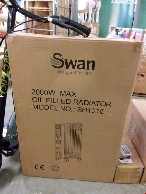 Lot 2086 SWAN SH1015 OIL FILLED RADIATOR WITH TIMER RRP £69.99