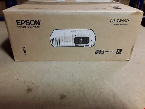 Lot 4485 EPSON EH-TW650 HOME PROJECTOR