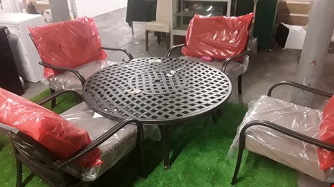 Lot 5 HARTMAN RIPLEY FIREPIT TABLE & 4 CHAIRS WITH CUSHIONS RRP £710