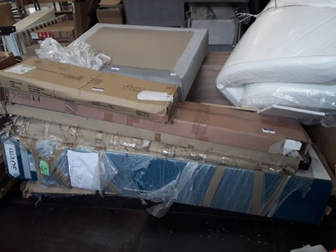 Lot 5116 PALLET OF ASSORTED FLAT PACK FURNITURE TO INCLUDE BED PARTS, WARDROBE PARTS AND BAGGED MEMORY FOAM MATTRESS