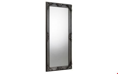 Lot 3604 BOXED ROCOCO PEWTER LEAN TO DERSSING MIRROR