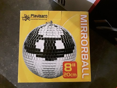 "Lot 3018 BOXED 8"" MIRRORBALL"