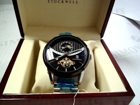 Lot 5631 DESIGNER STOCKWELL 1000 EDITION AUTOMATIC MOONPHASE DIAL METAL STRAP WATCH RRP £625.00