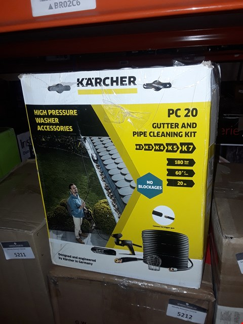 Lot 5201 KARCHER PC 20 GUTTER AND PIPE CLEANING KIT