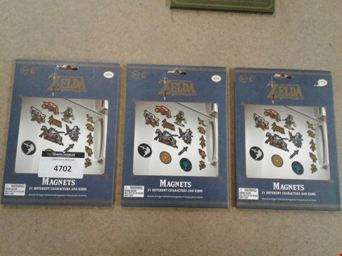 Lot 2218 BOXED BRAND NEW LEGEND OF ZELDA BREATH OF THE WILD MAGNETS X3