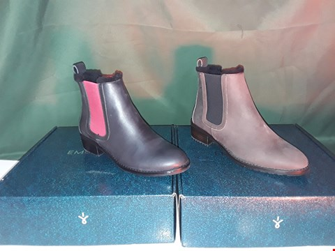Lot 1057 2  PAIRS OF EMU URBAN EXPLORER ELLIN POP ANKLE CHELSEA BOOT SIZE 6