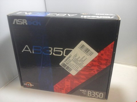 Lot 1002 BOXED ASROCK AB350 RYZEN MOTHERBOARD