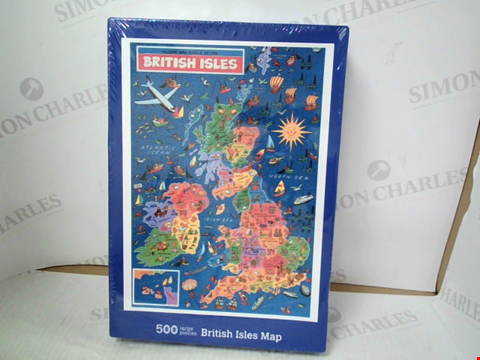 Lot 3115 BRITISH ISLES MAP 500-PIECE JIGSAW PUZZLE