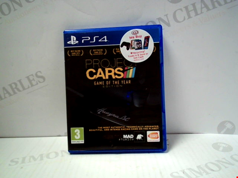 Lot 5715 PROJECT CARS PLAYSTATION 4 GAME