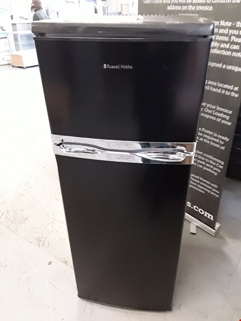 Lot 183 RUSSEL HOBBS BLACK FRIDGE FREEZER  RRP £259
